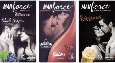 Manforce BlackGrape , Coffee, Butterscotch