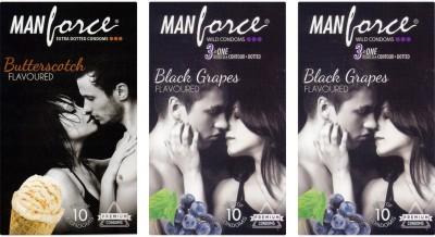 Manforce BlackGrape , Butterscotch, Butterscotch