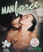 Manforce Jasmine Flavoured Extra Dotted Condoms 3 Pcs