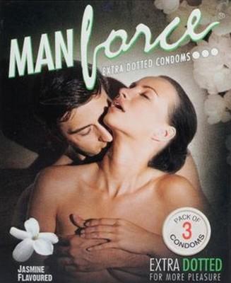 Manforce Jasmine Flavoured Extra Dotted Condoms 3 Pcs