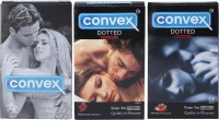Convex Monthly Pack Combo Dotted Redcurrant, Strawberry, Jasmin (Set Of 3 30S) Condom (Set Of 3, 30S)