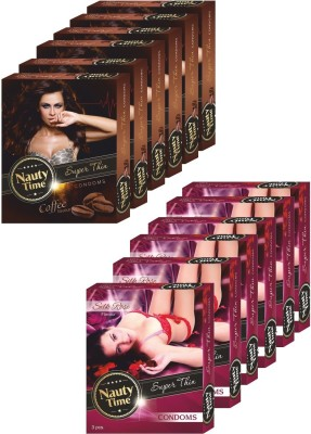 Nauty Time Super Thin Dotted Coffee & Silky Rose