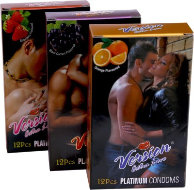 Version Extra Love Platinum Combos of Orange, Black Grape and Strawberry Flavour