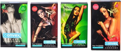 Convex Monthly Pack Combo Extratime Strawberry, Chocolate, Mint with Dotted Aloevera