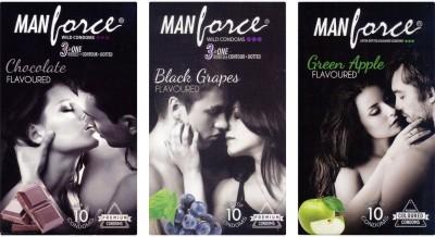 Manforce Chocolate, BlackGrape , Green Apple