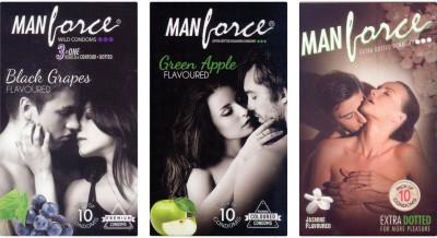 Manforce BlackGrape , Green Apple, Jamin