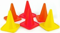 Sahni Sports Space Marker Pack Of 6 (Red, Orange, Yellow Set Of 6)