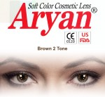 Aryan 2 Tone Brown Yearly Contact Lens By Visions India