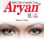 Aryan 2 Tone Green Yearly Contact Lens By Visions India