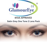 Glamour Eye Satin Grey By Visions India Monthly Contact Lens (-1.25, Satin Grey, Pack Of 2)