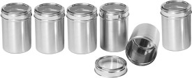 Dynamic Store Set of 6  - 500 ml Stainless Steel Food Storage