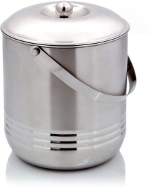 Mirror Handle Canisters (Set of 3: L - 4 ltrs, M - 3 ltrs, S - 2 ltrs)  - 9000 ml Stainless Steel Multi-purpose Storage Container