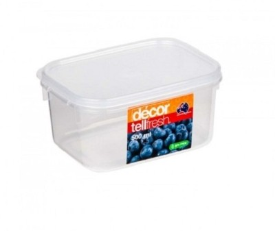 Decor tellfresh oblong 500 ml best price in india on 13th for Decor 500ml container