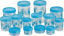 Polyset Twisty Foils S/14 - 1050 ml, 175 ml, 540 ml, 295 ml, 1475 ml, 225 ml Plastic Food Storage: Container