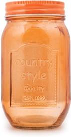 Chumbak Awesome Orange Mason Jar  - 450 ml Glass Food Storage