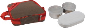 Carrolite Food storage Lunchpack Square Red 3 pieces  - 700 ml Stainless Steel Food Storage