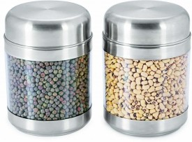 Sizzle Clear Containers  - 850 ml Stainless Steel, Plastic Food Storage