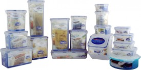 Lock&Lock Classic Container Set of 18pcs  - 700 ml, 1.4 L, 2.4 L, 850 ml, 1 L, 1.5 L, 600 ml, 180 ml, 350 ml, 430 ml, 300 ml, 600 ml, 1.6 L, 5 L, 4 L, 1.9 L, 2.6 L Polypropylene Multi-purpose Storage Container