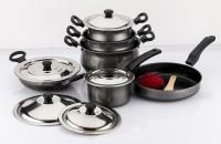 Mahavir Induction Base Non Stick 6 - Piece Cookware Set