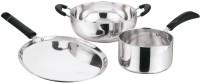 Kitchen Essentials Gift Set Combo Aluminium Kadai, Tawa & Sauce Pan 3 - Piece Cookware Set