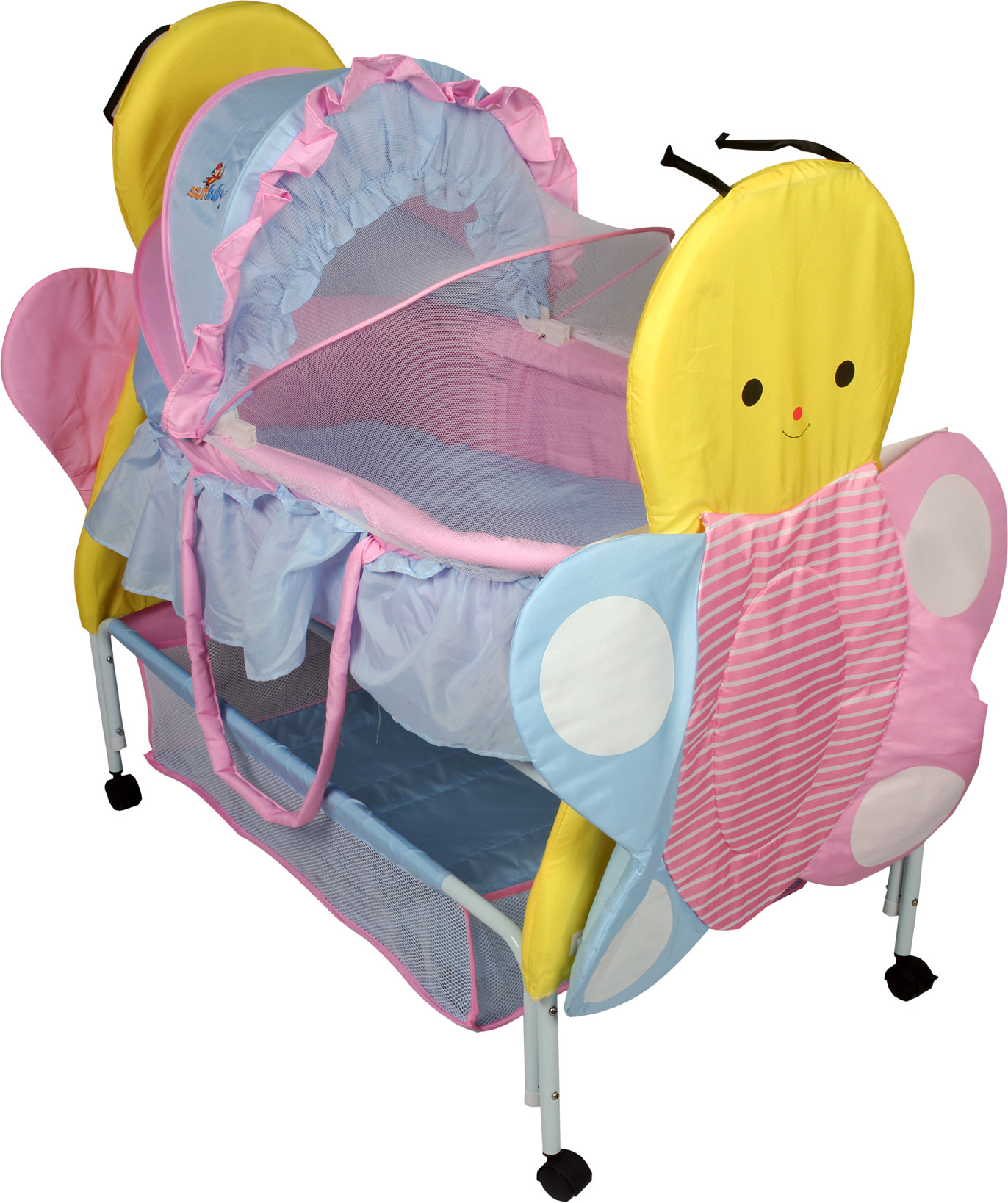 Baby bed online flipkart - Sunbaby Buzz The Butterfly Bassinet Pink