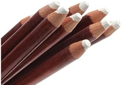 Bianyo Round Shaped Soft Pastel Pencils Crayons (Set Of 12, White)