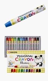 Sakura Round Shaped Wax Crayons - Set Of 12, White