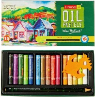 Camlin Express Round Shaped Oil Pastels Crayons (Set Of 15, Multicolor)