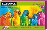 Classmate Colour Crew Round Shaped Oil Pastel Washable Crayons (Set Of 5, Multicolor)