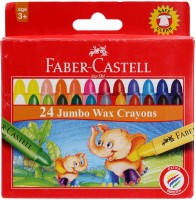 Faber Castell Crayons Round Shaped Wax Crayons (Set Of 1, Red)
