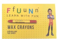 Navneet Funn Round Shaped Wax Washable Crayons (Set Of 10, Multicolors)