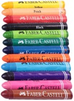 Faber Castell Triangular Shaped Wax Crayons (Set Of 12, Multicolor)