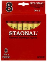 Crayola Triangular Shaped Wax Crayons (Set Of 1, Red)