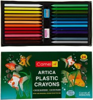 Camlin HX24 Colour Round Shaped Plastic Washable Crayons (Set Of 1, Multy)