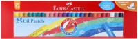 Faber-CAstell Round Shaped Oil PAstel Washable Crayons (Set Of 1, Red)