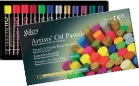 Mungyo Oil Pastel Crayons - Set Of 12, Assorted Metallic And Fluorescent
