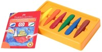 Faber Castell Triangular Shaped Wax Crayons (Set Of 6, Multicolor)