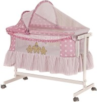 Toyhouse Baby Cradle With Swing Function (Pink)