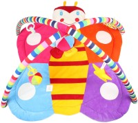 Ole Baby Plushy Butterfly Twist And Fold Musical Activity Play Gym-Newborn Playmat (Multicolor)