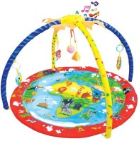 Toys Bhoomi Twist And Fold Island's Melodies & Lights Baby Activity Gym - Newborn Playmat (Multicolor)