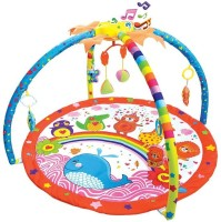 Toys Bhoomi Twist And Fold Big Whale's Melodies & Lights Baby Activity Gym - Newborn Playmat (Multicolor)