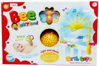 Gift World Baby First Bed Bell With Light And Music Projector Crib (Multicolor)