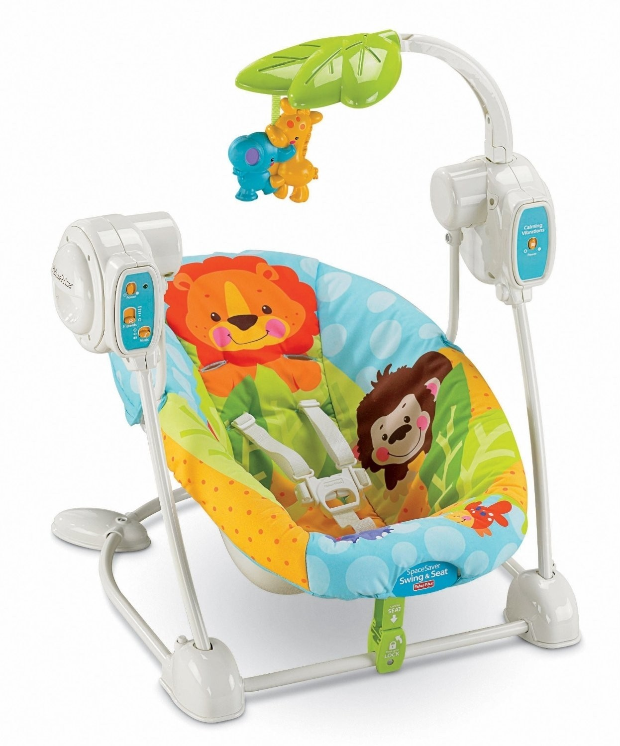 Fisher price spacesaver swing seat spacesaver swing for Silla fisher price