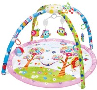 Toys Bhoomi Twist And Fold Happy Ville Melodies & Lights Baby Activity Gym - Newborn Playmat (Multicolor)