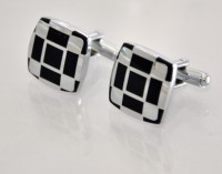 Big Five Deals Curved Square Brass Cufflinks - Silver