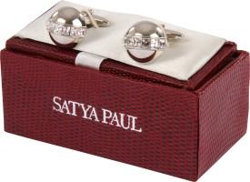 Satya Paul Metal Alloy Cufflink Silver - CTPDAJC5AZYEZK2M