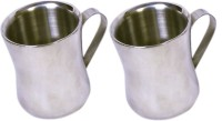 Dynamic Store Set Of 2 Double Wall Dhol Cups DS_144 (Steel, Pack Of 2)