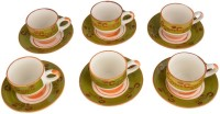 LUCINA LUCINA Tea Cup And Saucer Bone China -Set Of 12 25 (Multicolor, Pack Of 12)