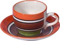 LUCINA LUCINA Tea Cup And Saucer Bone China -Set Of 12 33 (Multicolor, Pack Of 12)