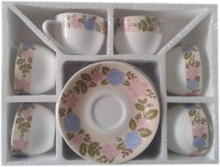 JCPL TINA CUP& SAUCER 12 PCS SET (Multicolor)
